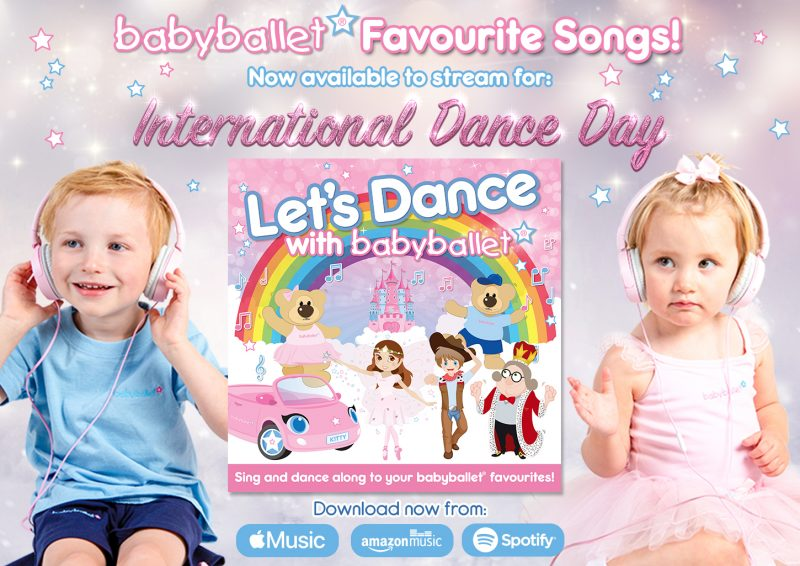 babyballet Music Available to Download_Let's Dance with babyballet BANNER